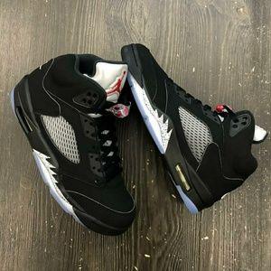 """Air Jordan 5""""Black Metallic"""" Nike OG DeadStock New"""
